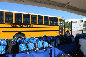 Galderma employees donated 1250 backpacks with school supplies to Northwest ISD. (PRNewsFoto/Galderma)