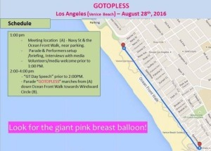 GoTopless Pride Parade in Venice Beach, CA to mark 9th Annual GoTopless Day on Aug. 28 (PRNewsFoto/GoTopless)